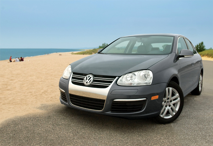VW TDI on beach