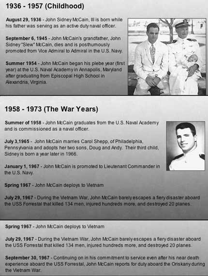 John McCain Timeline p1