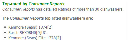 Dishwashers from MSN
