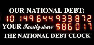 national debt clock $10 trillion