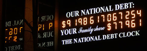 National Debt Clock $9 trillion