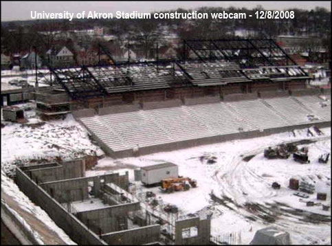 U Akron webcam of Stadium