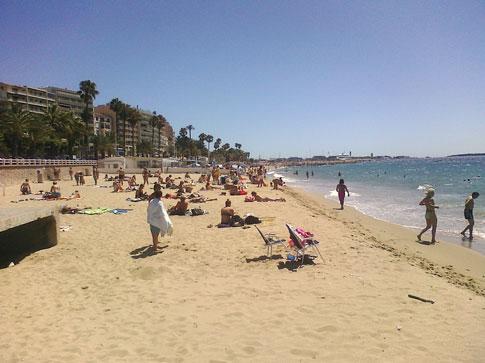 Cannes France -- Beach