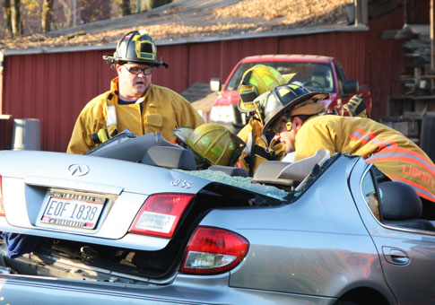 Accident on Bethany Road in Liberty Twp Ohio Nov 8, 2009
