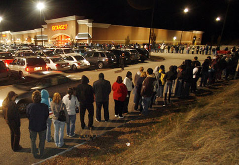 Black Friday Lines at Target