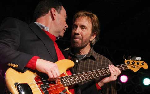 Chuck Norris and Mike Huckabee