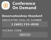 conferenece on demand