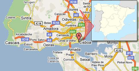 Liboa / Lisbon Portugal map