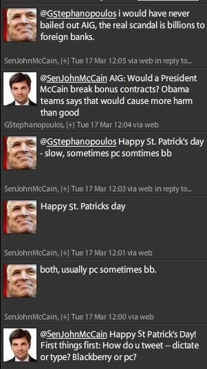 twitter on mccain interview