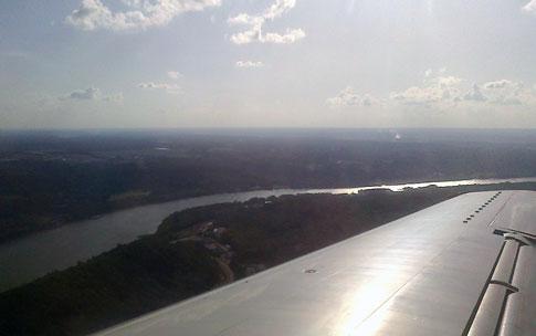 Flying into CVG