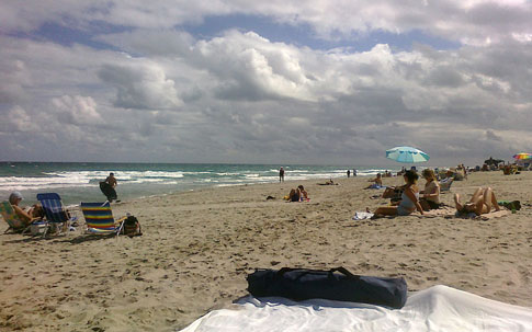 Delray Beach with clouds