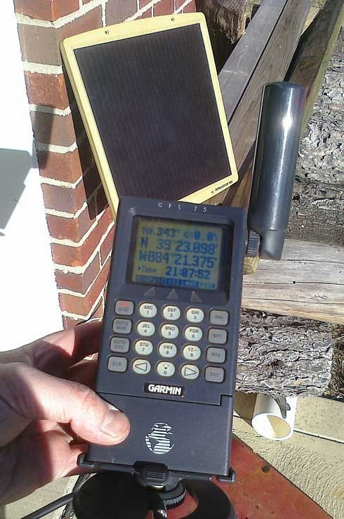 Tinkering With My Old Garmin Gps 75 And An Old Solar Panel