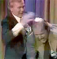 Johnny Carson and Dom DeLouise