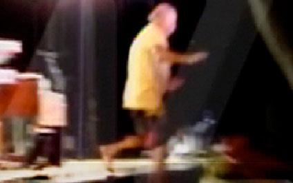 Jimmy Buffett off stage
