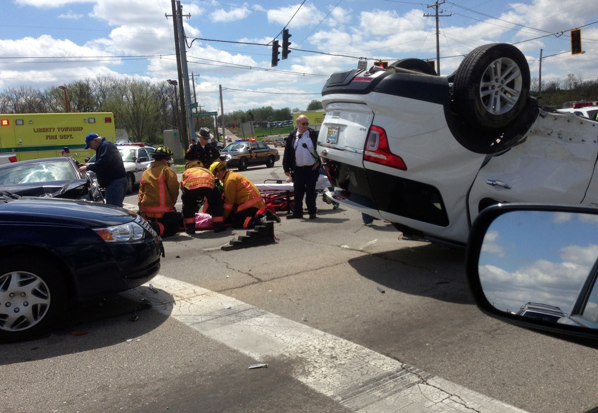 Close accident call for me today – Liberty Township, Ohio