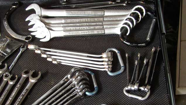 Tooltip Carabiners For Boxed End Wrench Storage My