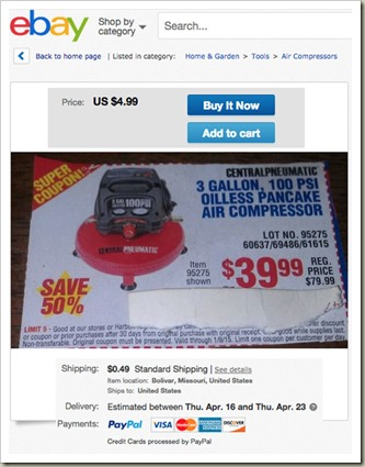 Selling Coupons On Ebay Very Entrepreneurial My Desultory Blog