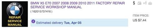 BMWX5E70ServiceManualonEbay
