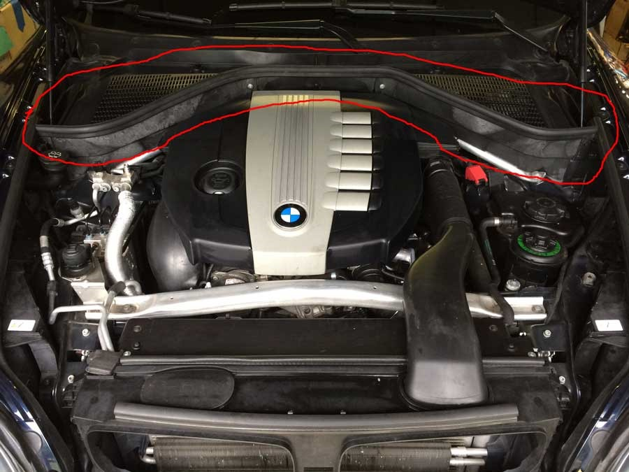 The Engine Bay Of Our Bmw X5 35d Has Been Put Back