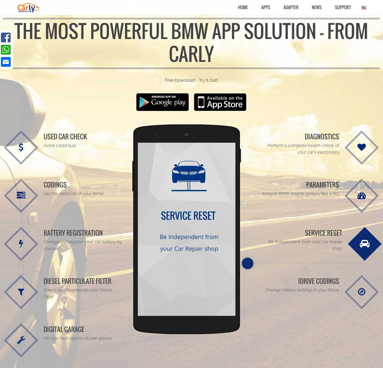 Downloaded iOS Carly for BMW app and ordered OBD adapter   My