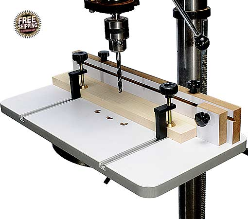 The Bench Top Drill Press Holds Bits And Drills Straight