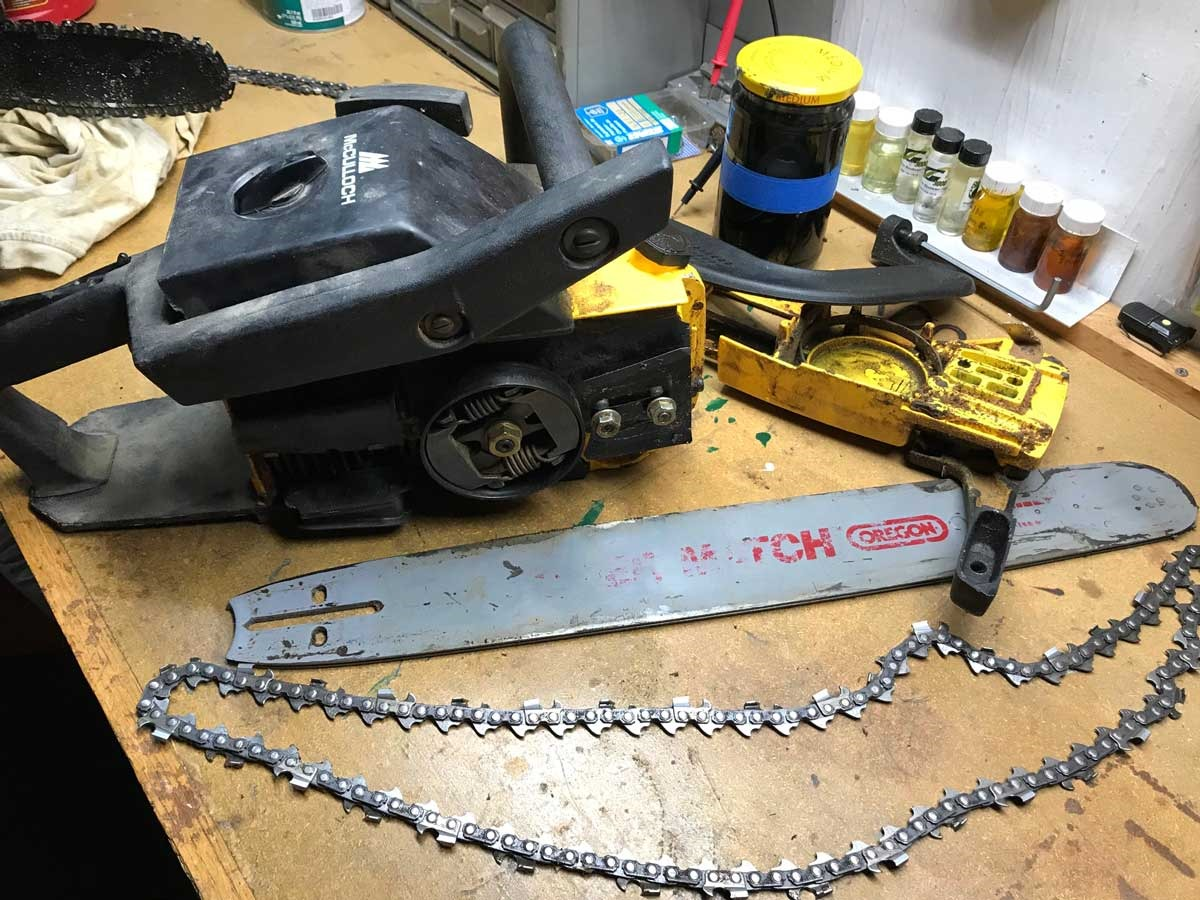 Painting and sharpening and changing chainsaw chains my desultory blog mccullochchainsaw keyboard keysfo Choice Image