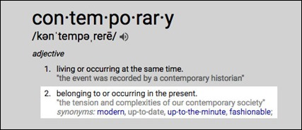 contemorarydefined