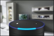 Smart speaker with voice control - living room
