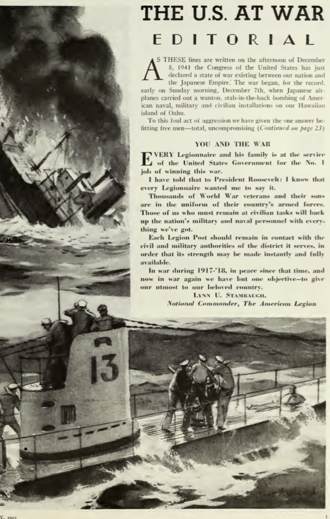 American Legion Article - Dec 8, 1941