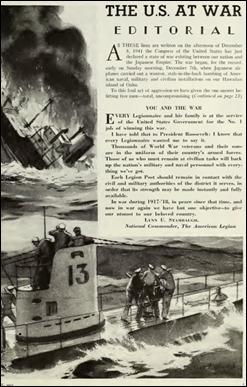 NewspaperAmericanLegion_Dec8_1941