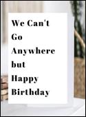 Quarantine Birthday Card Happy Birthday Quarantine Card Self  Etsy