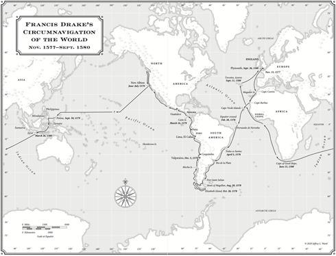 FrancisDrakeCircumnavigationMap