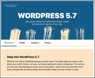 Wordpress5.7