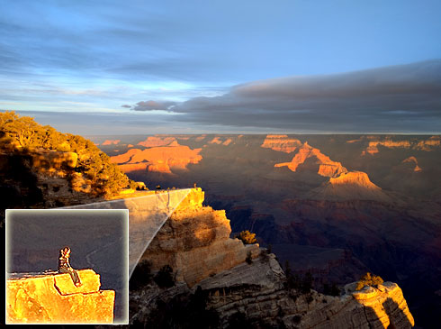 Katelyn sitting on the edge of the Grand Canyon